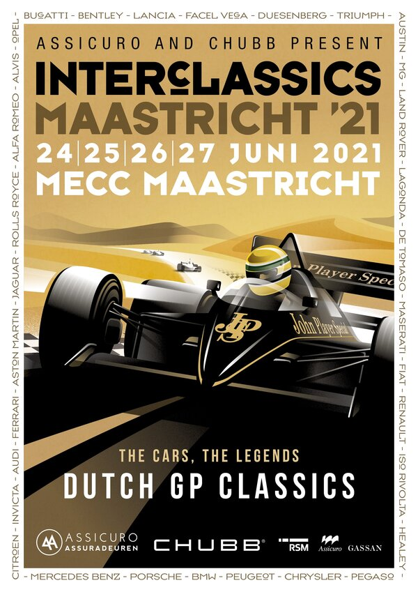 Dutch Grand Prix theme at summer edition of 2021 InterClassics Maastricht