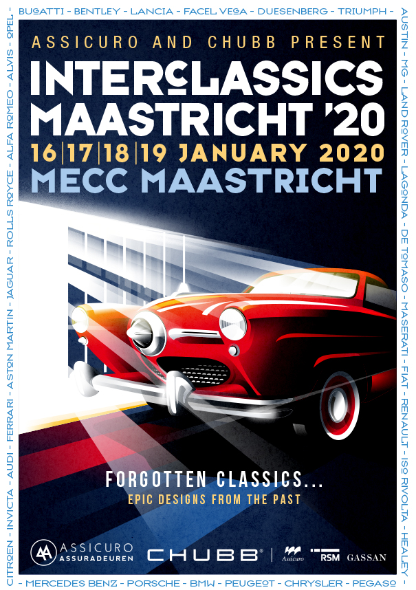 "InterClassics Maastricht 2020 goes all out with epic designs of ""forgotten"" car brands"